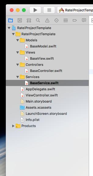 Xcode base MVC template